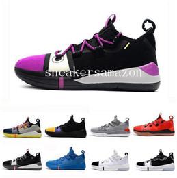 2019 scarpe da basket arancione kobe 2019 New Kobe AD EP Mamba Day Sail Wolf Grigio Arancione Multicolor Scarpe da pallacanestro per uomo di qualità Sneakers sportive Sneakers taglia 40-46 scarpe da basket arancione kobe economici