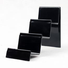 2019 оптовый стойку Оптовая 4шт пластиковые многофункциональный ясно / черный бумажник телефон дисплей стенд держатель карты стойку 3 слоя дешево оптовый стойку