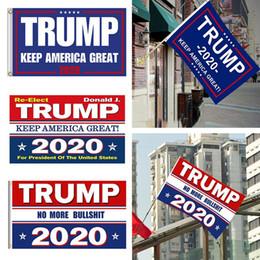 2019 banner de impresión digital 8 colores Decoración Banner Trump Flag Hanging 90 * 150cm Trump Keep America Great Banners 3x5ft Impresión digital Donald Trump 2020 Flag BH1749 TQQ banner de impresión digital baratos