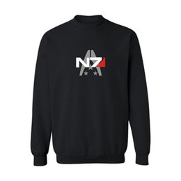 mass effect hoodie Coupons - Mass Effect Long Sleeve Round Collar Fashionable Pullover Designed European And American Wind New Style Hoodies