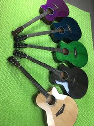 Chitarra singolo-singolo lucida del fiore della pesca dello spruce da 41 pollici, una varietà di chitarra acustica dell'impugnatura di sfregatura che spedice liberamente da pesca varietà fornitori