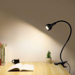 Lámpara de estudio diy online-USB LED Lámpara de lectura Blanco Cálido Blanco Libro Luz Estudiante Niños Estudio Luz Lampara USB LED Lámpara Leeslampje Clip Lámpara