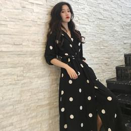 2e014d278d1 SuperAen Summer Women s Dress Korean Style Fashion V-neck Ladies Long Dress  Casual Half Sleeve Dot Female New 2018 korean ladies summer dress deals