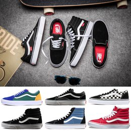 cba90e95c 2019 fresco mens zapatos casuales Original Vans Old Skool sk8-hi Auténtico  hombre mujer Zapatillas