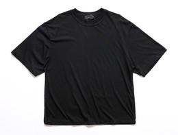 T-shirts blancs vierges en Ligne-Homme streetwear justin bieber T shirts vêtements urbains Kanye plaine blanc / gris / noir chemises oversize blank T-shirt blanc