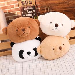 Sofá de pelúcia on-line-Bonito Dos Desenhos Animados Urso De Pelúcia Panda Almofadas De Pelúcia Macio Stuffed Animal Almofada Urso De Pelúcia Brinquedo Sofá Almofada Decor Presente de Aniversário Da Menina