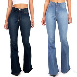 Nuove donne di modo Pure Jeans in denim di colore Casual vita alta Skinny Girls Slim Blue Womens pantaloni eleganti da