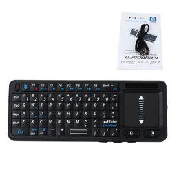 2019 tableta italiana Mini teclado inalámbrico universal 2.4G con panel táctil multitáctil con panel táctil para PC Smart TV para computadoras portátiles Android