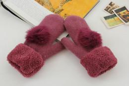 hiver gants de laine de classiques femmes de la mode sports de plein air balle de laine de haute qualité garder des gants chauds ? partir de fabricateur