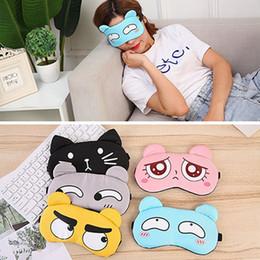 2019 máscaras do sono do goggle Homens Mulheres Dormir Máscara de Olho de Proteção Bonito Expressão Dormir Máscara de Olho Com Gelo Sacos De Dormir Sombreamento Respirável BH1054 TQQ máscaras do sono do goggle barato