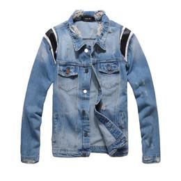 herren blaue ledermäntel Rabatt Mens Denim Jacke Persönlichkeit Neue Ankunft Lederjacke Blaue Jeansjacke Männliche Jacken Dünne Mantel M-3XL