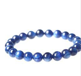 4ce97c3a2baa Las pulseras salvajes de la joyería del boutique de la joyería cristalina  natural cristalina azul de 6m m venden al por mayor