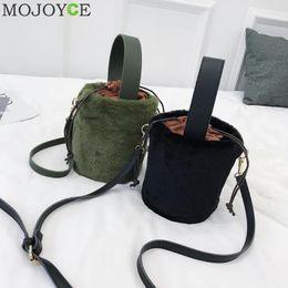 777893261eed Designer Casual Women Drawstring Sling Bucket Bag Girls Shoulder Satchel  Bags Plush Faux Fur Bolsos Mujer Crossbody Bags for Ladies 2019