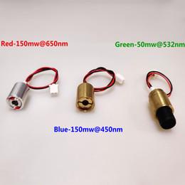Diodos laser vermelhos on-line-AUCD Vermelho 150mW @ 650nm Verde 50mW @ 532nm Azul 150mW @ 450nm para SL Estilo Z Estilo Mini Projecter Stage Iluminação Mostrar Peças do Sistema - Laser Diodo