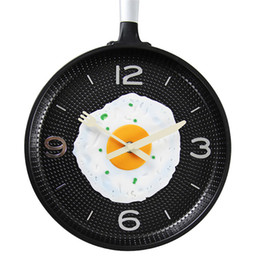 restaurant products Promo Codes - Creative Pan Wall Clock Kitchen Restaurant Bar Decoration Personalit Uiet Pow Butterfly Best Selling 2019 Products 50Q199