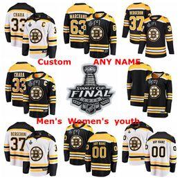 Hockey boston jersey online-2019 Stanley Cup Finale Boston Bruins Hockey Trikots Patrice Bergeron Trikot Zdeno Chara David Pastrnak Brad Marchand Customized Stitched