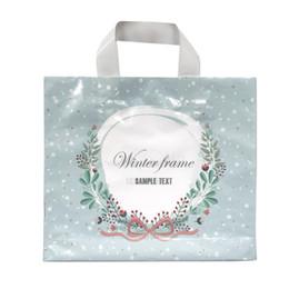 Sacchetti di cravatta online-50pcs tote bag in plastica ghirlanda legata con fiocco shopping sacchetti regalo confezioni regalo sacchetto di plastica rifornimenti di compleanno del partito