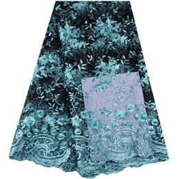 Argentina 2019 última tela nigeriana francesa de alta calidad de tul africano cordones de tela de la boda cordones franceses abalorios para vestidos 1533 Suministro