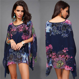 0a7163b853d16 Summer Bathing Suit Cover ups Bikini Swimwear Printed Chiffon Beach Tunic  Top Pareo Sexy Swimsuit Beachwear for Women CU853082
