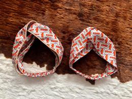 Bandanas trasversali online-Hairbands di stile della Boemia di estate Stampa Fasce per le donne Retro Cross Knot Bandana di fasciatura di turbante Bandane Accessori per capelli delle donne