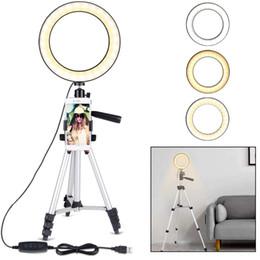 ring speedlite Sconti Luce ad anello con supporto per treppiede per video e trucco YouTube, Mini Lampada LED per fotocamera con supporto per telefono cellulare Lampada da tavolo a LED con 3 luci M