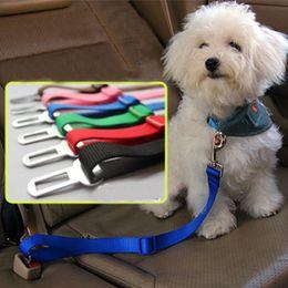 2019 collari di cane nero arancione Nuovo cane regolabile Utility Pet Car Safety Seat Cintura Harness Restraint Lead Leash