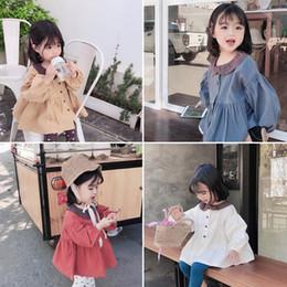 Vestidos de burbuja casuales online-2019 primavera niñas manga corta burbuja niño pequeño bebé muñeca camisa princesa vestido niños Casual algodón blusa ropa J190611