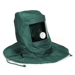 Kumlama Hood Aşındırıcı Kumlama Maskesi Kap Rüzgar Toz Anti Koruyucu Aracı cheap abrasives tools nereden aşındırıcılar aletleri tedarikçiler