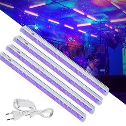 Lampada da discoteca principale online-6W 24 Nero LED UV Light Bar UV Blacklight DJ Party Club Halloween Effetto luce Fixture fase Decor UE / USA fase della discoteca Lampada