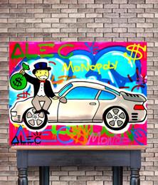peintures militaires Promotion (Unframed / Framed) Monopoly Alec Amour Ma Porsche rose, 1 Pièces impressions sur toile Wall Art Peinture à l'huile Home Decor 24x32.