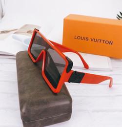 2019 gafas de sol deportivas naranjas 2020 gafas de sol del marco clásico de la moda retro piloto Lente de cristal de la protección UV400 Eyewear con el caso de cuero el envío libre