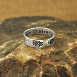 hamsa rings Coupons - Fashion Jewelry Rings Customizable yoga , Hamsa hand ring, secret message blessings and strength personalized custom gift quote Yoga ring