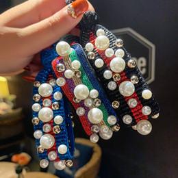 Élastiques de couleur perle en Ligne-Nouvelle Mode Perle En Caoutchouc Imprimé Léopard Hairband Pour Les Femmes Filles Corde À Cheveux Cadeaux De Noce De Mariage Arc-En-Perles De Couleur Bande De Cheveux