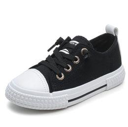 87496317 Zapatos casuales de los niños zapatillas de deporte Primavera otoño Moda Niño  Niña Zapatos de lona para niños Zapatillas de deporte Negro / rosa / verde  / ...