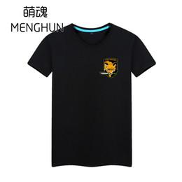 Metallo volpe online-Metal gear Fox Hound concept magliette Fan di ingranaggi in metallo magliette Camicia di gioco in cotone con stampa di emblemi Fox hound
