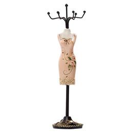 2019 titolari di gioielli manichini Jewelry Organizer Hanging Earring Necklace Display Mannequins Dress Lady Figure Stand Holder sconti titolari di gioielli manichini