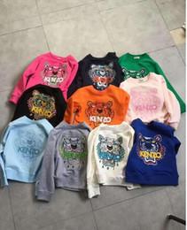 Stickerei kleidung für kinder online-Baby Kleidung Kinder Kleidung 2019 Herbst Neueste Mode Kinder Baumwolle Exquisite Tiger Kopf Stickerei Kinder Hoodies Sweatshirts Jacken