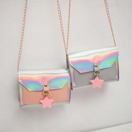 2019 bolsas de marca para meninas 2019 Marca Ombro New Baby Menina do adolescente da bolsa Bag sólidos transparentes Laser PU Mulheres Bolsas Mensageiro Coin Purse Wallet bolsas de marca para meninas barato