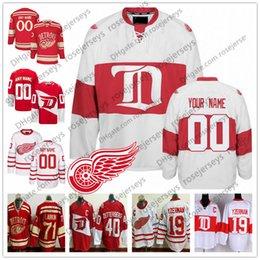хоккейные бренды Скидка Настроить Детройт Red Wings Хоккей Мужчины Женщины молодежь малыш старый бренд Белый третий зимний классический стадион серии столетие старинные Джерси S-4XL