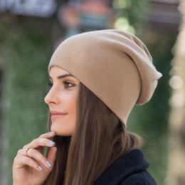 Bonnet d'automne et d'hiver cachemire couvre-chapeau pour femmes en plein air épais bonnet de laine chaud double couche 53-60CM (7 3/8) ? partir de fabricateur