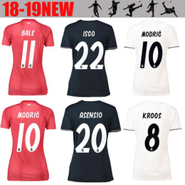 6d547cca97e Women ISCO Real Madrid home white Soccer Jerseys 18 19 Real Madrid Girl soccer  Shirts 2019 ASENSIO Vinicius lady 3rd red Football uniforms