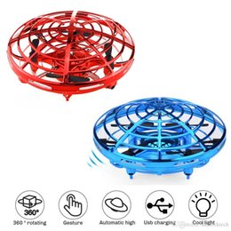 rc fly ball Promo Codes - UFO Toy Mini Drone Hand Operated Drones for Kids Induction Aircraft RC Helicopter Flying Ball Toys for Boys Girls Dropship