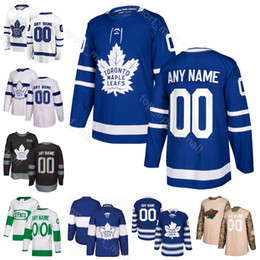 Homens Crianças Mulheres Morgan Rielly Jersey Toronto Maple Leafs Hóquei no gelo Kasperi Kapanen Andreas Johnsson Nazem Kadri Stadium Série St Pattys Day de