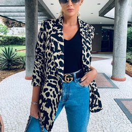 Formale damen blazer online-Herbst Frauen OL Arbeit Blazer Anzug Damen Langarm Dünne Freizeitjacke Mantel Outwear Top Karriere Formal Langer Mantel