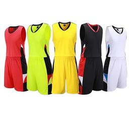 Uniformi di pallacanestro degli abiti sportivi di addestramento di colore solido su misura le donne degli uomini possono stampare le uniformi di pallacanestro di logo stampate XXXXL jooyoo da giallo uniforme di pallacanestro verde fornitori