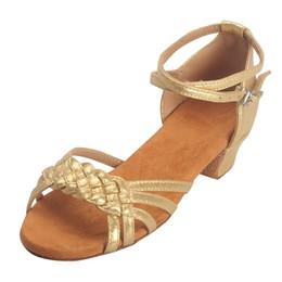2fb1531e Zapatos Jaycosin para mujer boca de pescado tejido para adultos, zapatos de  baile latino de secundaria con sandalias de baile cuadradas con fondo suave  y ...