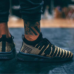 cffbe7f6079 2019 nouvelle version soutien EQT Mid PK Shenron chaussures de course  Dragon Ball Z noir vert hommes femmes jogging en plein air formateur  baskets support ...