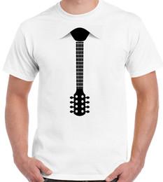 2019 guitare classique Cravate guitare - T-shirt rigolo pour homme - Basse électro acoustique T-shirt classique RETRO VINTAGE guitare classique pas cher