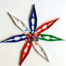 Diamantes artesanias online-Pinzas duraderas niños herramienta hecha a mano para niños bricolaje clip antiestático diamante pintura artesanal Perler Bead juguete pinzas novedad GGA1445