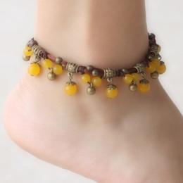 Indiano fatto a mano elastico pietra di rame tallone cavigliera per le donne boho beach cavigliera braccialetto braccialetto piede gioielli ancle braclets supplier indian bell bracelet da braccialetto di campana indiano fornitori